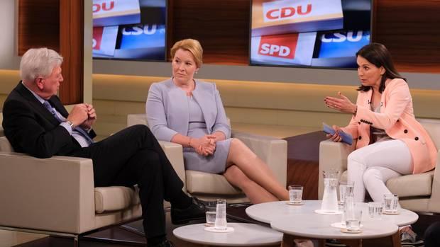 Alles ist gut, worüber sich also aufregen? Volker Bouffier und Franziska Giffey verteidigten die Politik der GroKo