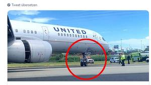 Die Boeing 757-200 von United Airlines am Newark Airport in New Jersey
