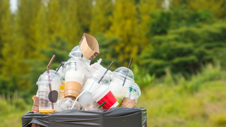 Müll im Mülleimer