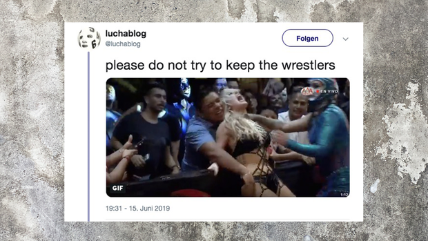Mexiko: Fan begrapscht US-Wrestlerin während Kampf