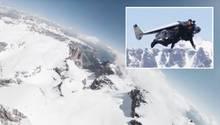 Jetman Yves Rossy über den Dolomiten gesichtet