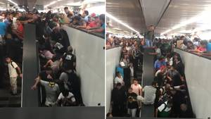 Auf einer Rolltreppe in Mexiko bricht Panik aus und führt zu Verletzungen