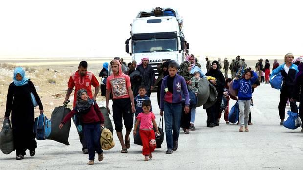 Flüchtlinge in Syrien - mehr als 70 Millionen sind weltweit auf der Flucht