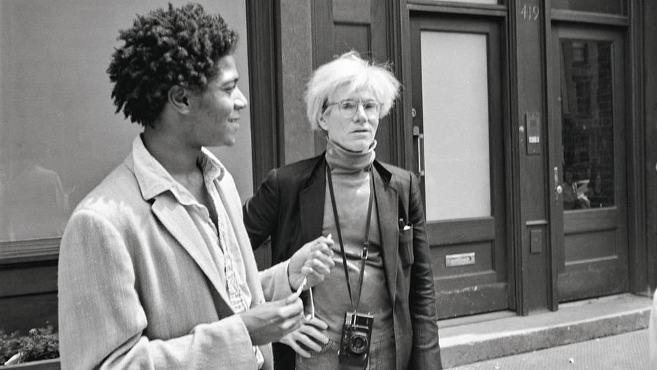 Basquiat lächelt, Warhol guckt kritisch