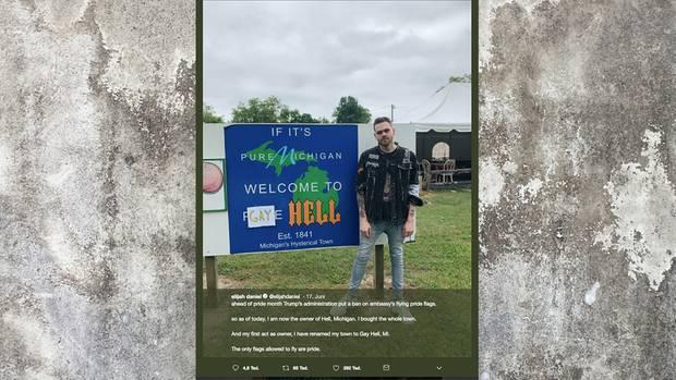 Elijah Daniel kauft Hell, Michigan