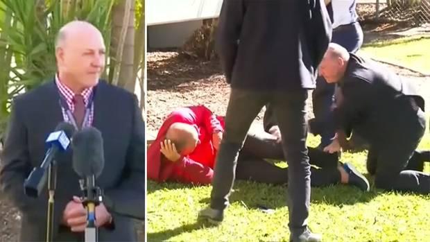 Australien: Polizist stoppt Flüchtigen während TV-Interview mit Rugby-Tackle