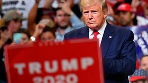 """""""Greatest-Hits-Kundgebung"""": US-Präsident Donald Trump bei seiner Wahlkampferöffnung in Orlando, Florida"""