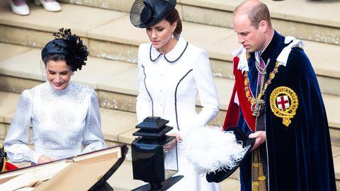 William und Kate bei der Zeremonie des Hosenbandordens
