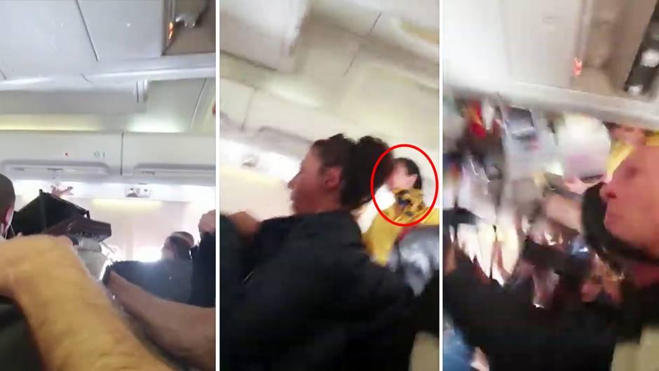 Bulgarische Airline: Stewardess wird während Turbulenzen an die Decke geschleudert