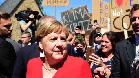 Bundeskanzlerin Angela Merkel bei ihrem Besuch in Goslar