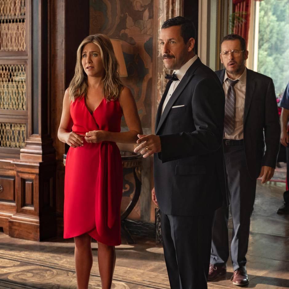 """Netflix, Amazon Prime Video und Co.: Netflix-Film """"Murder Mystery"""" mit Jennifer Aniston und Adam Sandler bricht Rekord"""