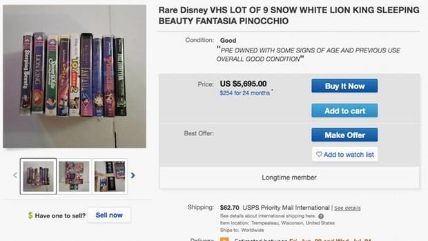 Disney-Kollektion auf Ebay