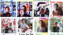Flüchtlingskinder porträtiert vonSave The Children