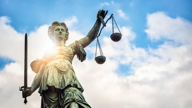 Eine Justizia-Statue