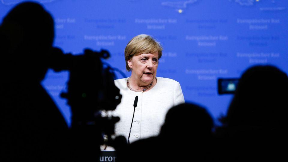 Bundeskanzlerin Angela Merkel beim EU-Gipfel in Brüssel