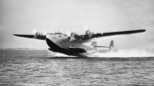 Pan American Airways System Boeing 314 Clipper beim Start