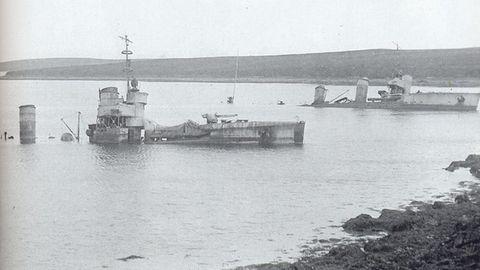Gestrandete deutsche Torpedoboote.