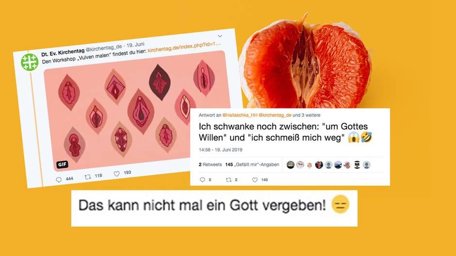 Tweets und Reaktionen auf den Workshop Vulva malen