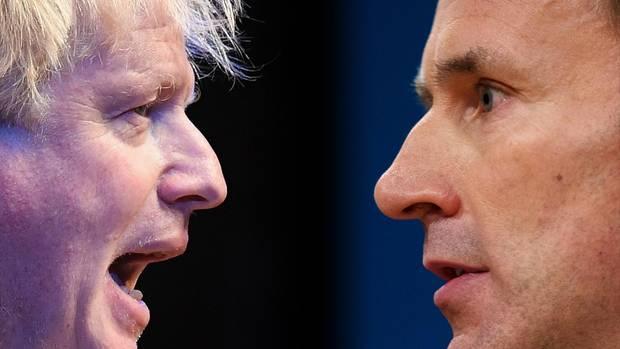 Boris Johnson (l.) und Jeremy Hunt