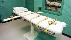 """Ein Liege in einer sogenannten """"Todeskammer"""" eines Gefängnisses in Texas"""