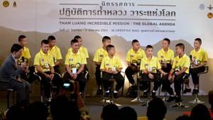 Die Fußballmannschaft, die aus einer Höhle in Thailand gerettet wurde