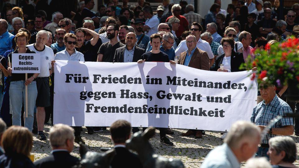 Mahnwache in Wolfhagen anlässlich des Mordes am Kasseler Regierungspräsidenten Walter Lübcke