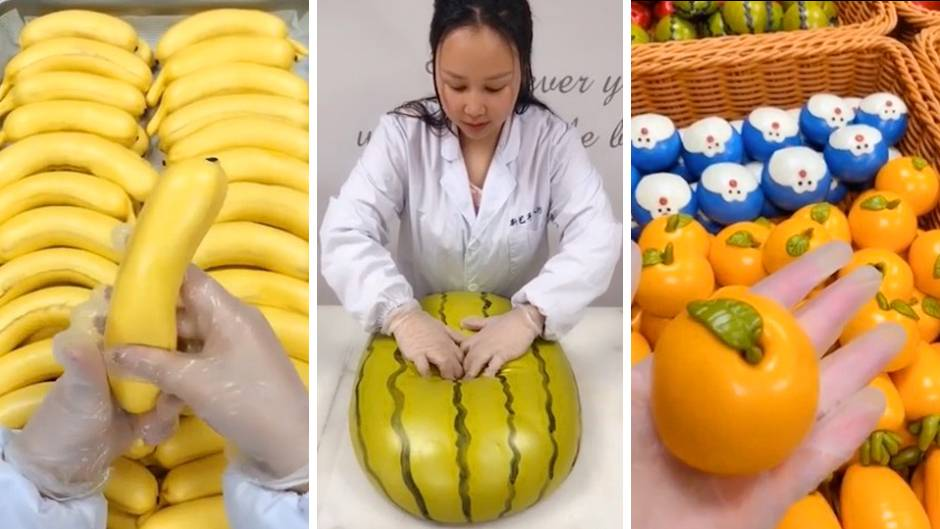 Fake-Früchte: Bananen, Wassermelone oder Mandarinen