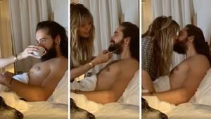 Heidi Klum stutzt ihrem Verlobten im Bett den Bart
