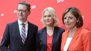 Manuela Schwesig (M.), Malu Dreyer, Thorsten Schäfer-Gümbel
