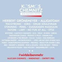 Das Lineup des Kosmos Chemnitz