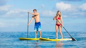 Stand Up Paddling ist eine beliebte Wassersportart