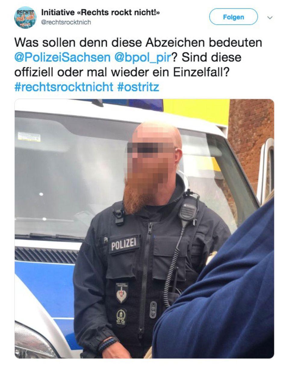 Polizeibeamter Twitter