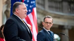 US-Außenminister Mike Pompeo (l.) und Bundesaußenminister Heiko Maas