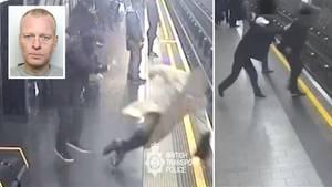 Londoner U-Bahn-Schubser Paul Crossley muss lange hinter Gitter