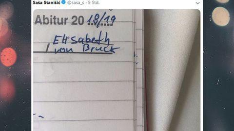 Schrift: Elisabeth von Bruck.