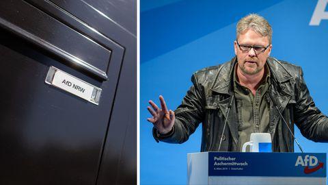 AfD-Briefkasten in Düsseldorf, Politiker Guido Reil