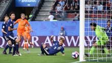Lieke Martens erzeilt das 1:0 gegen Japan im WM-Viertelfinale