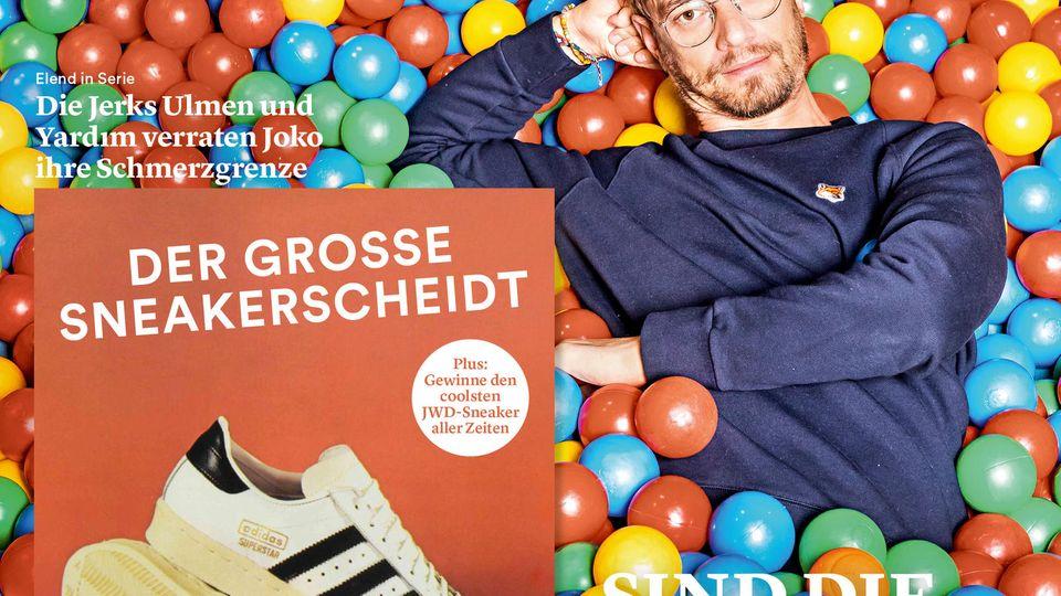 Joko Winterscheidt auf dem Cover der JWD, Ausgabe 13