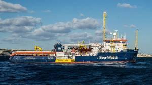 Die Sea Watch 3 auf dem Mittelmeer