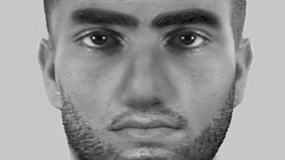 Das Phantombild zeigt den Gesuchten im Fall der Freiburger Gruppenvergewaltigung