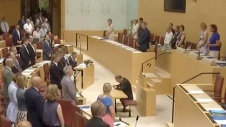 Eklat bei Sitzung : Sehen Sie hier die Gedenkminute im Bayerischen Landtag
