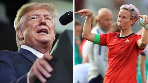 US-Präsident Donald Trump hat die FußballspielerinMegan Rapinoe scharf attackiert