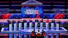 US-Wahl 2020: Zehn demokratische Bewerberstellten in einem ersten TV-Duell ihre grundsätzlichen Positionen vor