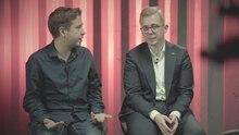 Juso-Chef Kevin Kühnert (li.) und CDU-Politiker Philipp Amthor bei der Debatte in der stern-Diskuthek
