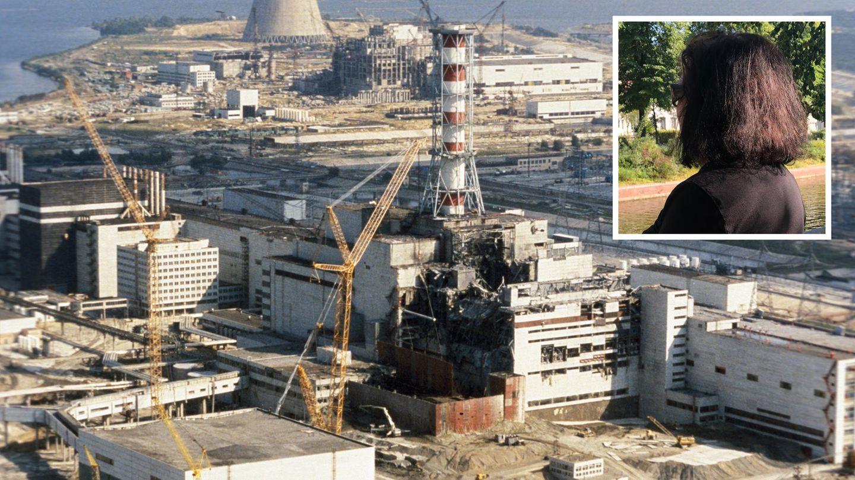 Auf der linken Seite ist der zerstörte Reaktor zu sehen, rechts ist Rita von hinten zu sehen