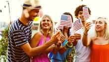 Amerikaner feiern den Unabhängigkeitstag