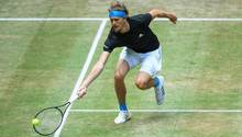 Alexander Zverev beim ATP-Turnier in Halle