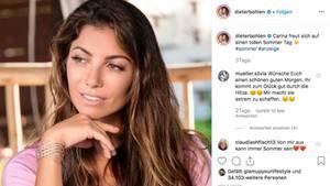 Dieter Bohlen postet Bild von Carina auf Instagram