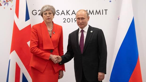 Theresa May und Wladimir Putin