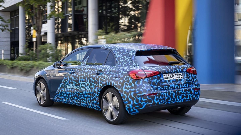 Rein elektrisch ist die Mercedes A-Klasse PHEV bis zu 140 km/h schnell